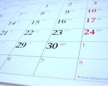 calendar imerologio gamos 350x280 - Πως να οργανώσετε ένα γάμο όταν ο χρόνος πιέζει