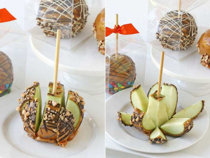 How to cut a caramel apple - Καραμελωμένο μηλαράκι… τέλειο γλυκάκι να συνοδεύσει τη μπομπονιέρα!