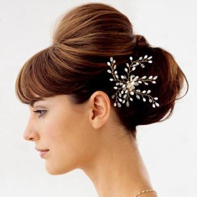 Wedding Hairstyles for the Bride2 - Νυφικά χτενίσματα για Σκούρα μαλλιά