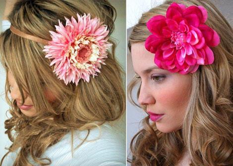 mandizzle flower hair clip - Νυφικά χτενίσματα με λουλούδια στα μαλλιά