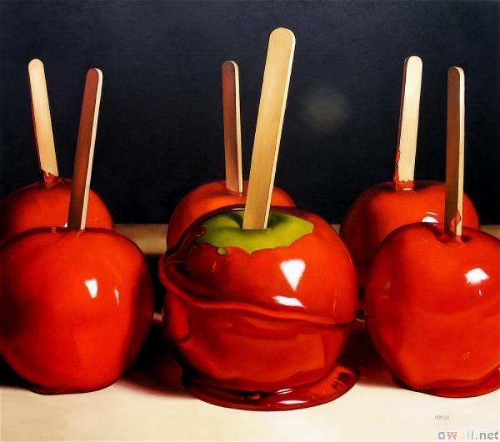 thumb3 red candy apples - Καραμελωμένο μηλαράκι… τέλειο γλυκάκι να συνοδεύσει τη μπομπονιέρα!