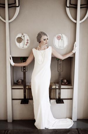 1920s wedding dress from Lindsay Flemmins Mary - Γάμος με vintage αέρα
