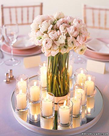 a99938 spr03 mirror xl Στολισμός τραπεζιών γάμου χρώμα ροζ!