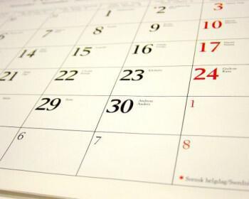 calendar 350x280 - Απαγορευμένες ημέρες τέλεσης γάμου