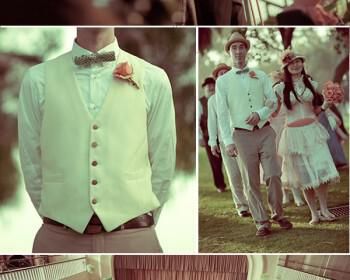 santa monica vintage wedding 6 350x280 - Γάμος με vintage αέρα