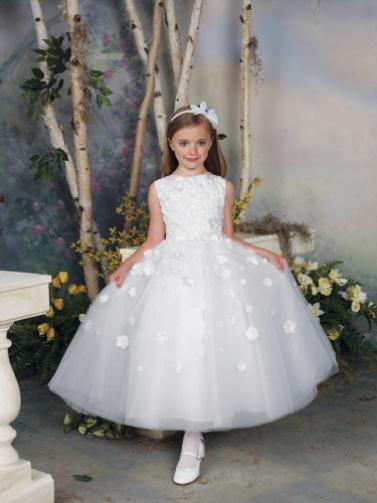 112309 white 0041 LR - Joan Calabrese Φορέματα για παρανυφάκια Συλλογή 2012
