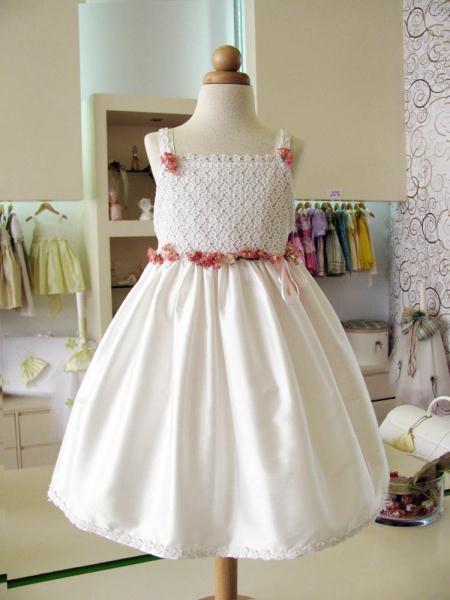 250 hand made white dress a - Zachary.gr Βαπτιστικά ρούχα μοναδικά και ξεχωριστά !