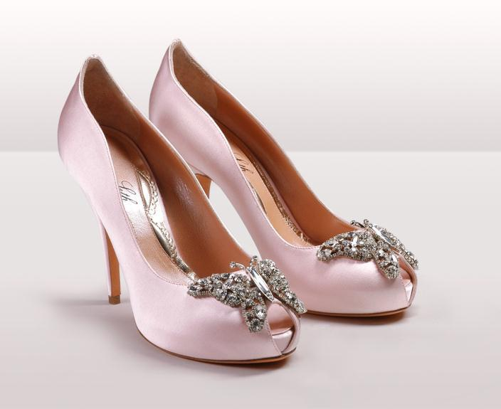 Farfalla pink satin bg - Νυφικά παπούτσια  Aruna Seth Η νυφική της σειρά με πεταλούδες