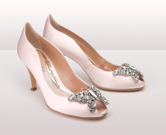 Light pink farfalla kitten BG - Νυφικά παπούτσια  Aruna Seth Η νυφική της σειρά με πεταλούδες