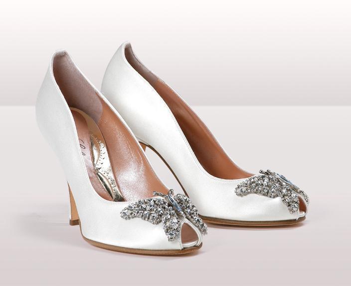 farfalla ivory satin BG - Νυφικά παπούτσια  Aruna Seth Η νυφική της σειρά με πεταλούδες