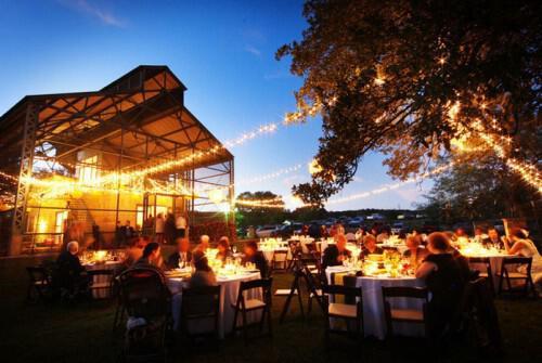 Outdoor Wedding Reception Lighting - Δεξίωση γάμου σε κτήμα