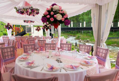 Outdoor wedding reception decorations - Δεξίωση γάμου σε κτήμα