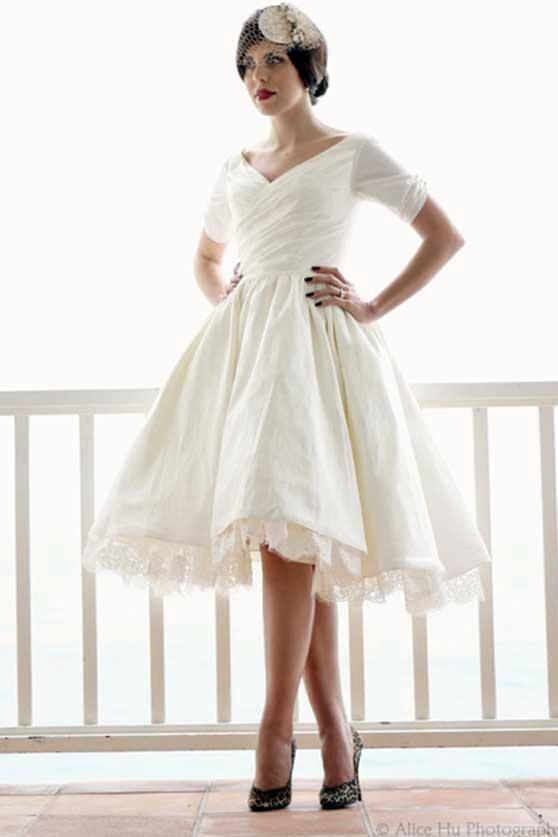 dolly couture wedding dresses beverly 11 - Κοντό νυφικό, κάνει για μένα?
