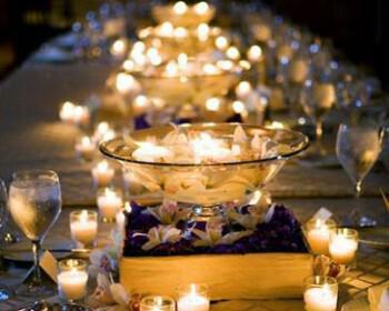wedding centerpiece 2 350x280 - Διακόσμηση γάμου με κεριά… μια σταθερή αξία!