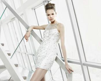 63 350x280 - Κοντά Νυφικά Φορεματα 2012