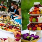 wedding reception dinner outdoor casual buffett style vibrant fruit  full 160x160 - Καλοκαιρινός γάμος Δεξίωση DIY: Πώς να διαμορφώσετε έναν οικονομικό μπουφέ μόνες σας!