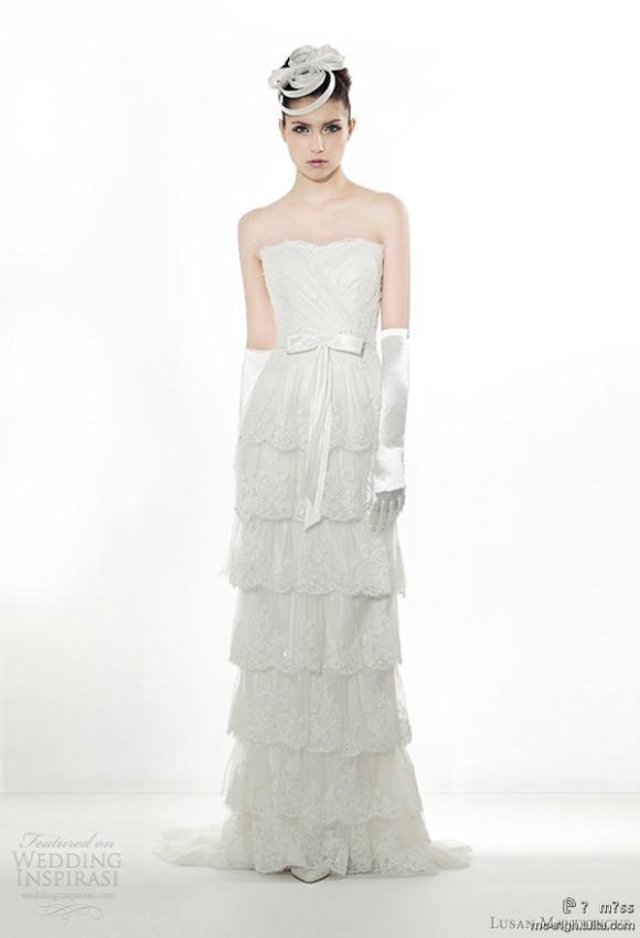 Νυφικά Φορεματα 2012 Lusan Mandongus Collection Άνοιξη 2012
