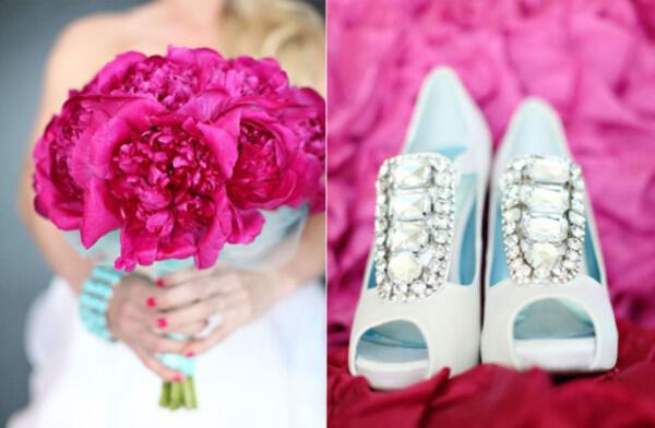 Στολισμός γάμου με το χρώμα Magenta