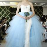 2013 wedding dress trend two tone bridal gowns oscar de la renta ivory sky blue tulle  full 160x160 - Νυφικα 2013 Οι τάσεις στα νυφικά για τη νέα χρονιά