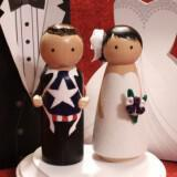adorable wedding cake toppers handmade wedding etsy superhero groom gamilia tourta 160x160 - Τα πιο όμορφα toppers για γαμήλιες τούρτες