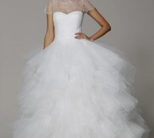nifika 2013 marchesa wedding dress spring 2013 bridal gowns tulle ballgown cap sleeves  full 313x280 - Νυφικά Άνοιξη 2013 - 9 Νυφικά του οίκου Marchesa που θα λατρέψετε!