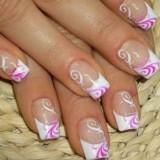 nifiko manikiour french manicure with lilac decoration 160x160 - Ιδέες και tips για το τέλειο νυφικό μανικιούρ