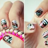 nixia sxedia funky wedding nail art for modern stylish brides pastel with black pattern  full carousel 160x160 - Σχέδια για Νύχια για εναλλακτικές νύφες : Εντυπωσιάστε με τα νύχια σας!