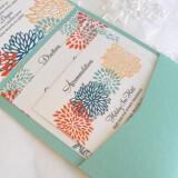 aqua coral gold wedding invitations handmade wedding stationery  full carousel 160x160 - Φτερά και Πούπουλα…δώστε στο γάμο σας άλλο «αέρα»!