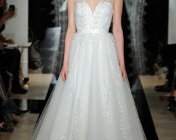 Reem Acra Spring 2014 Bridal Collection 22 350x280 - Νυφικά 2014 Reem Acra Collection Άνοιξη 2014