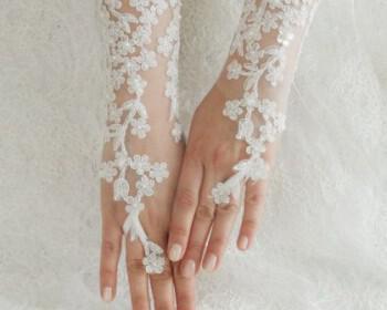 nifika gantia 3 350x280 - Κοντά νυφικά γάντια