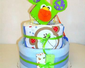 tourta apo panes diapercakes 5 350x280 - Τούρτα απο πάνες, ένα αξιολάτρευτο και πρακτικό δώρο