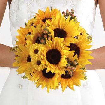 anthodesmi nifi kitrino ήλιοι ανθοδέσμη νύφη γάμο