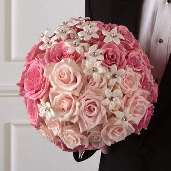 anthodesmi nifi roz triantafylla ανθοδέσμη νύφη γάμο