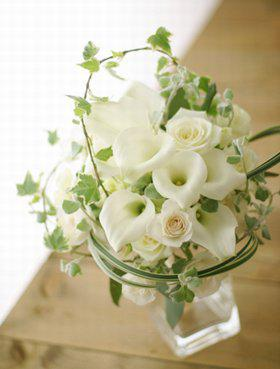 kales calla lillies mpouketo gamos