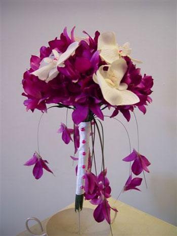 orxidees dendrobium nifi ανθοδέσμη στολισμό ορχιδέες νύφη γάμο