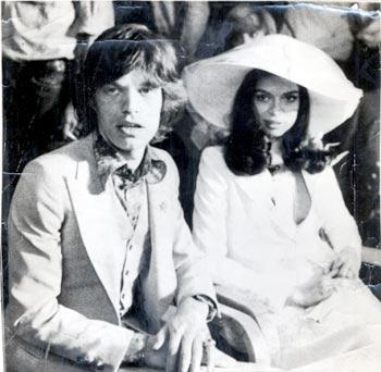 nifiko vintage styl dekaetia 50s 60s νυφικό  Bianca και Mick Jagger